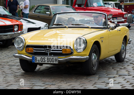 BERLIN - MAY 11: Sports car Honda S800, 26. Oldtimer-Tage Berlin-Brandenburg, May 11, 2013 Berlin, Germany - Stock Photo