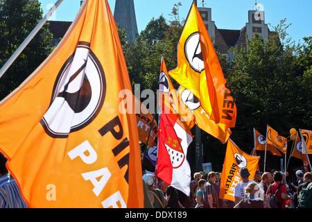 Anti NSA demonstration in Berlin - Stock Photo