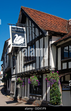 Swan Hotel High Street Lavenham Suffolk England - Stock Photo
