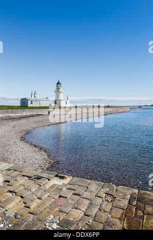 Lighthouse at Chanonry point on the Black Isle in Ross & Cromarty, Scotland - Stock Photo
