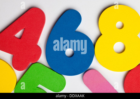 The number 6 in a group of ascending numbers - Stock Photo