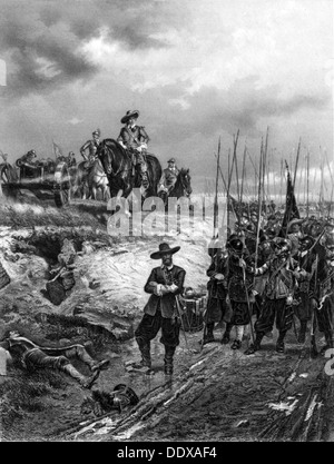 Oliver Cromwell (1599-1658) at the Battle of Marston Moor, 2 July 1644. - Stock Photo