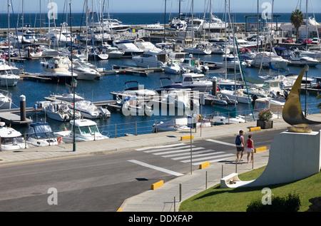 The Marina, Cascais, Estoril, Lisbon Coast, Estremadura, Portugal. - Stock Photo