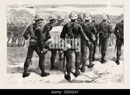 THE WAR IN THE SOUDAN (SUDAN): THE LATE SIR HERBERT STEWART WOUNDED - Stock Photo