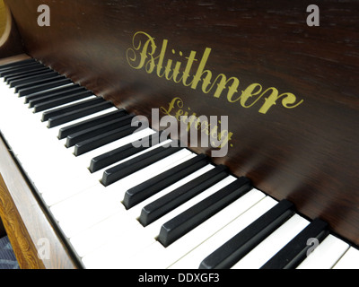 Bluthner Piano detail 37400, keys, mechanism, Leipzig, Germany - Stock Photo
