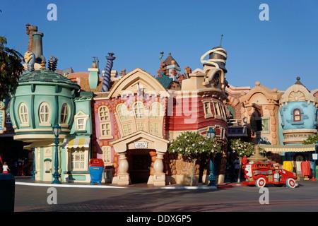 Toontown, Disneyland, Magic Kingdom, Fantasyland, Anaheim California - Stock Photo