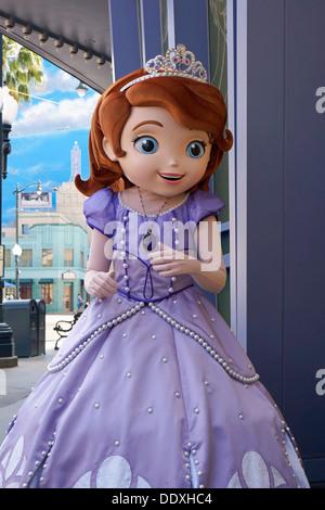 Sofia the First, Princess, Disney, Character, Disneyland, Anaheim, California - Stock Photo