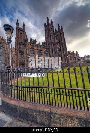View of The Mound, Edinburgh capital city Lothians Scotland UK - Stock Photo