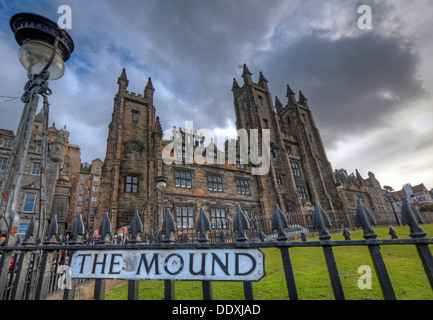 View of The Mound, Edinburgh capital city Lothians Scotland UK - Stock Photo