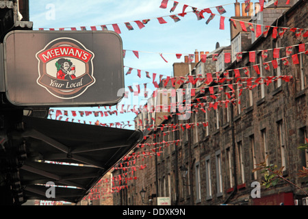 Rose Street,Edinburgh,Scotland,UK a place to drink,eat,party - McEwans Your Local - Stock Photo