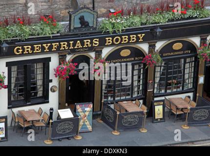 Greyfriars Pub from above, Edinburgh Capital City, Scotland UK - Stock Photo