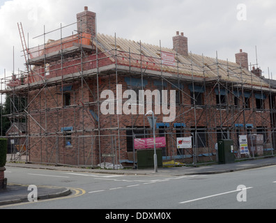 New homes being built in Warrington, Cheshire, England, UK - Stock Photo