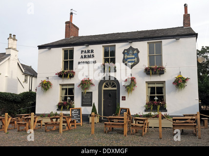 The Parr Arms Pub, Grappenhall Village,Warrington,Cheshire, England, UK - Stock Photo