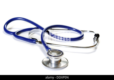 Medical stethoscope isolated on white background - Stock Photo