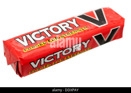 Packet of Victory V liquorice menthol flavoured lozenges - Stock Photo