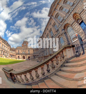 Wide fisheye view of Edinburgh University South College Lothian Scotland UK wide view - Stock Photo