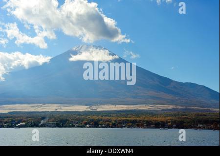 Mount Fuji and Lake Yamanaka - Stock Photo