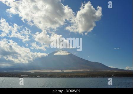 Mount Fuji and Lake Yamanaka, Japan - Stock Photo