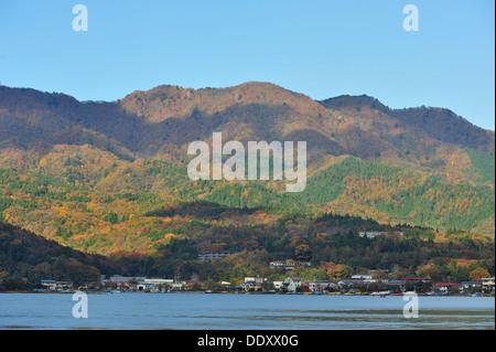 Lake Yamanaka, Kanagawa Prefecture Japan - Stock Photo