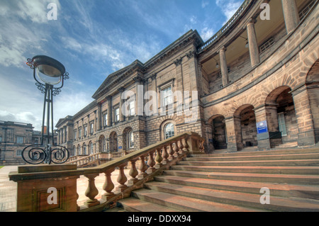 Elegance of Edinburgh University South College Lothian Scotland UK wide view - Stock Photo