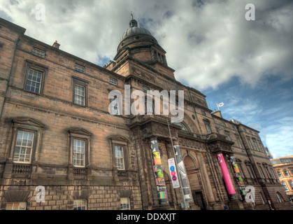 exterior of Edinburgh University South College Lothian Scotland UK wide view - Stock Photo