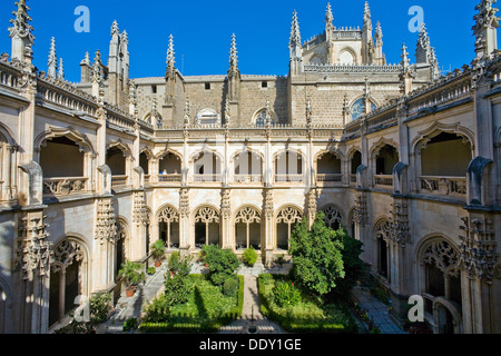 Cloisters and garden, Monastery of San Juan de los Reyes, Toledo, Spain, 2007. Artist: Samuel Magal - Stock Photo