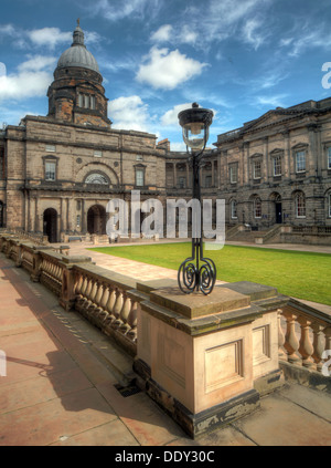 Edinburgh University South College Lothian Scotland UK wide view with dome - Stock Photo