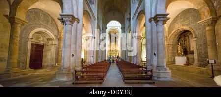 Altar, Old Cathedral, Sé Velha, Coimbra, Centro Region, Portugal - Stock Photo