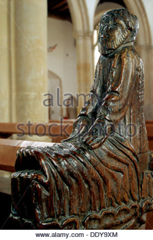 Wood carving in Holy Trinity Church, Blythburgh, Suffolk. Artist: Ken Murrell - Stock Photo