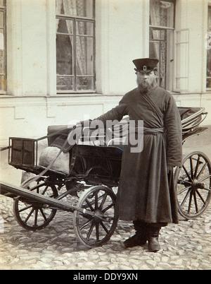 A coachman, 1890s.  Artist: Alexei Sergeevich Mazurin - Stock Photo
