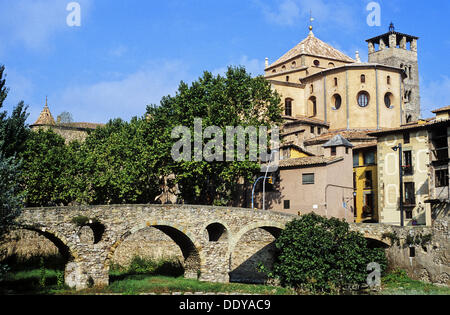 Queralt bridge, bridge, Romanesque, Century XI, Vic Cathedral, Cathedral, Vic, Spain, Catalunya, Catalonia, Barcelona, - Stock Photo