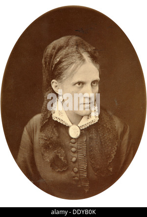 Anna Dostyevskaya, wife of Russian author Fyodor Dostoyevsky, late 19th or early 20th century. Artist: NA Lorenkovich - Stock Photo