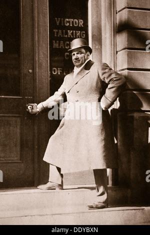 Enrico Caruso, Italian opera singer, USA, 6 November, 1909. Artist: Unknown - Stock Photo
