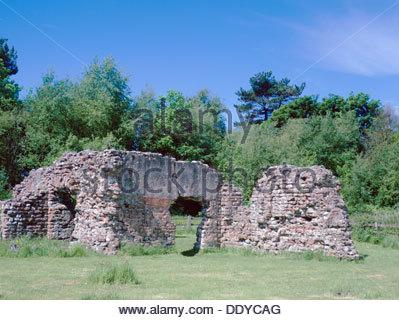 Roman baths, Ravenglass, Cumbria.  Artist: D Pratt - Stock Photo