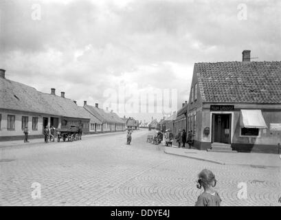 Street in Landskrona, Sweden, c1925. - Stock Photo