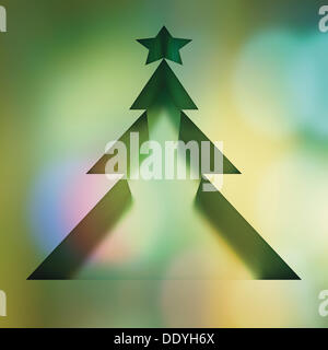 Christmas tree, illustration - Stock Photo