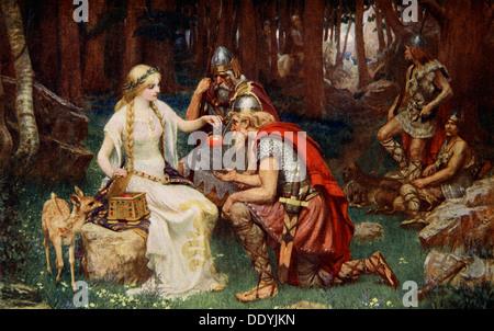 'Idun and the Apples', 1890.  Artist: James Doyle Penrose