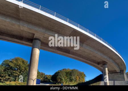 Motorway bridge Munich-North, A9, newly completed after renovation, Munich, Bavaria - Stock Photo