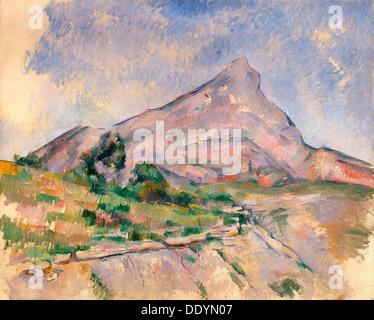'Mont Sainte-Victoire', 1897-1898.  Artist: Paul Cezanne - Stock Photo