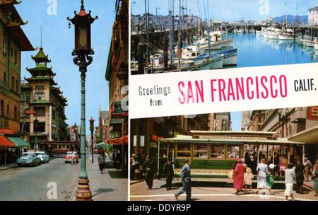 Greetings from san francisco usa typography poster lettering greetings from san francisco california usa postcard 1957 m4hsunfo