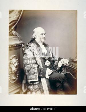 Thomas Gabriel, Lord Mayor of London, c1865. Artist: Anon - Stock Photo