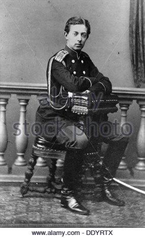 Grand Duke Nicholas Alexandrovich of Russia, c1860-c1865(?). Artist: Unknown - Stock Photo