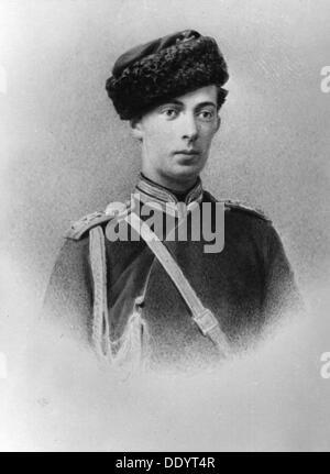 Grand Duke Nicholas Alexandrovich of Russia, c1862-c1863. Artist: Unknown - Stock Photo