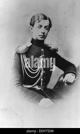 Grand Duke Nicholas Alexandrovich of Russia, c1861-c1864. Artist: Unknown - Stock Photo