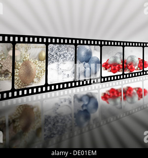 Christmas in strip film concept - Stock Photo