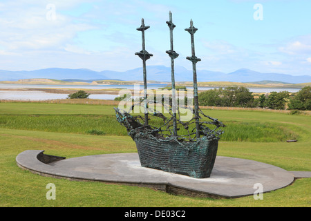 The National Famine Memorial at Murrisk in County Mayo, Ireland - Stock Photo