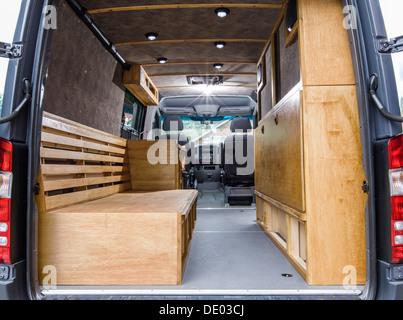 Interior View Of Mercedes Benz Sprinter Cargo Van 2500 Being Stock Photo Royalty Free Image