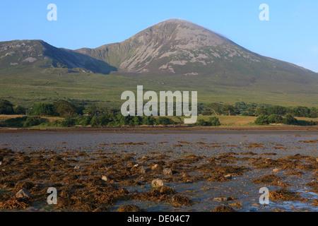 Croagh Patrick (Saint Patrick's Mountain) in county Mayo, Ireland - Stock Photo