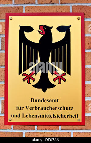 Sign, Federal Ministry of Food Safety and Consumer Protection, Berlin - Stock Photo