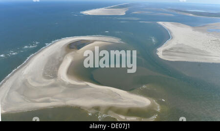The East Frisian Bird island Memmert is situated south-west of Juist and pictured on 26 August 2013. Photo: Carmen - Stock Photo
